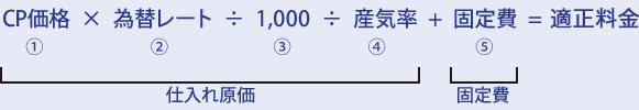 適正料金(価格)算出の計算式